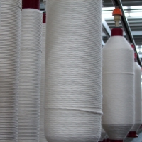 Roving Under Process on Ring Machine