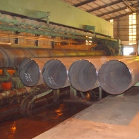 Hydrotesting of Pipes in Process at Pipe Plant