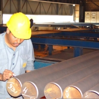 External Shot Blasted Pipe Surface Inspection